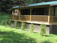 Linville river log cabins newland north carolina for Linville falls cabin rentals