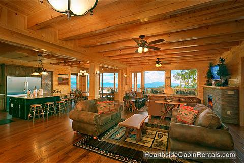 Majestic View Lodge Cabin In Pigeon Forge Tennessee