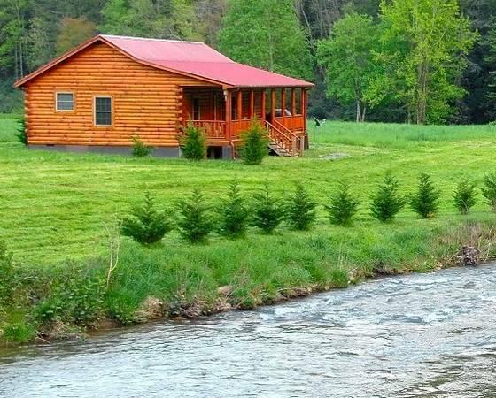 Luxury vacation riverfront cabin in asheville north carolina for Asheville log cabin rentals